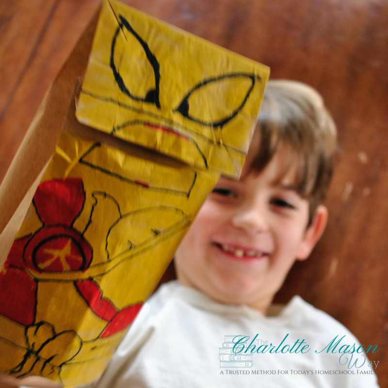 Creative play with Paper Lego Puppet - Easy and fun! | www.thecharlottemasonway.com