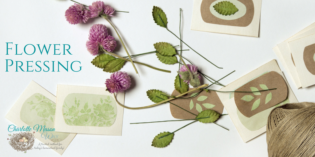 Flower Pressing Handicraft - A perfect way to bridge nature studies and handicrafts in your Charlotte Mason homeschool. | www.thecharlottemasonway.com